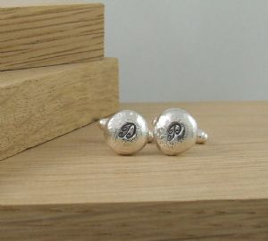 """Say it in Silver"" Personalised Cufflinks"